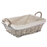 Gray Willow Basket with Liner